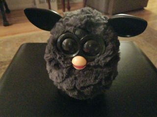Furby Charcoal Black Red Phoenix Electronic Pet 2012 Plush Needs Batteries