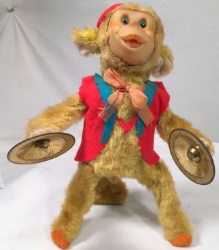 Vintage Yano Man Flipping Monkey With Cymbals