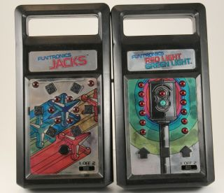 1979 Mattel Games Funtronics Red Light Green Light And Jacks And
