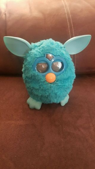 2012 Hasbro Electronic Furby Boom Teal Blue Great
