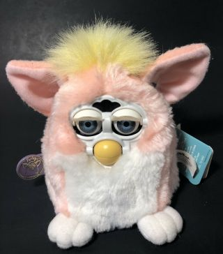 1999 Furby Babies Pink And Yellow Tiger Electronics
