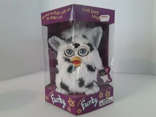 Tiger Electronics Furby White With Black Spots