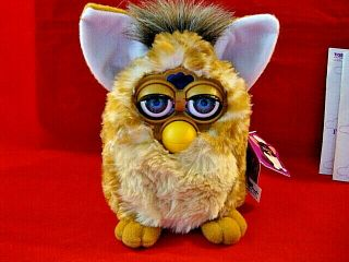 Electronic Furby Toy 70 - 800 By Tiger,  Giraffe Coloring W/blue Eyes,  W/ Box 1998