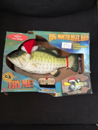 Big Mouth Billy Bass Sings For The Holidays Singing Fish With Box