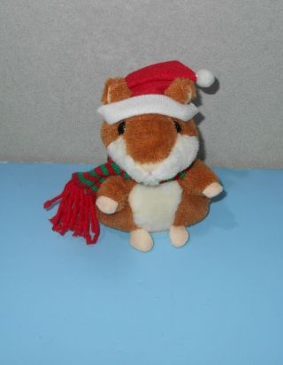 Talking / Record Hamster Electronic Pet Chatimals Mouse Buddy W/ Christmas Hat