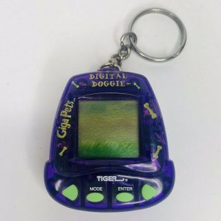 Giga Pets Digital Doggie Virtual Electronic Toy Tiger 1997 Vtg -