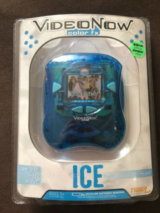 2006 Hasbro Tiger Electronics Video Now Color Fx Ice Blue Player