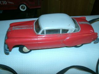Vintage 1954 Pontiac 2 Door Hard Battery Operated Toy