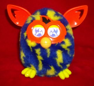 Hasbro Furby Boom Blue Yellow Lightening Bolts Electronic Interactive Toy
