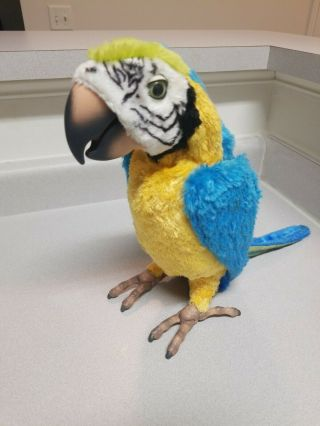 2007 Hasbro Squawkers Macaw Talking Parrot Furreal Friends Bird Only
