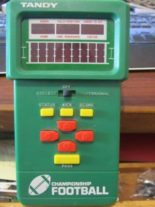 Vintage Tandy Championship Electronic Football Handheld Game