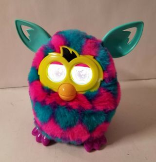 Hasbro Furby Boom Teal Pink Heart Interactive Electronic Toy Led Eyes