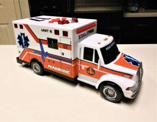 """Road Rippers Ambulance Paramedic Truck Toy With Lights & Sounds 14 """""""