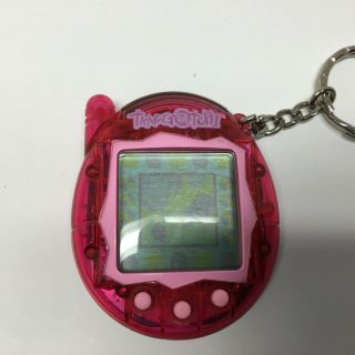 Tamagotchi Connection 2004 Bandai Wiz Blue Pink Clear V3,  Battery