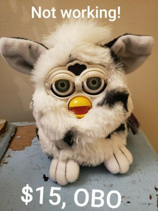 1998 Dalmation Furby Tiger Electronics,  Not