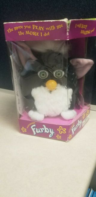 1998 Furby Black And White With Box/not 70 - 800
