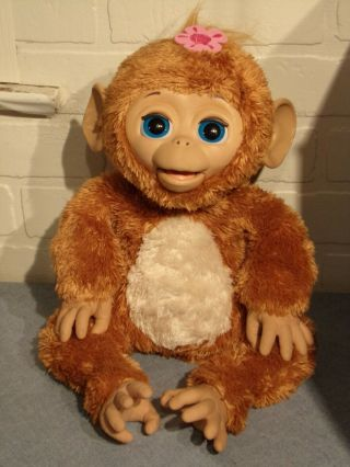 Collectible Hasbro Furreal Interactive Electronic Cuddles Giggly Monkey Plush