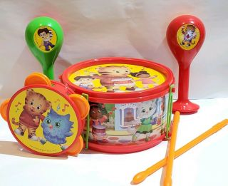 Pbs Kids Daniel Tiger's Neighborhood Musical Instruments Set Gently