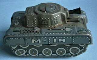 "Toy Tank "" M.  19 "" Made In Japan,  C.  1950"