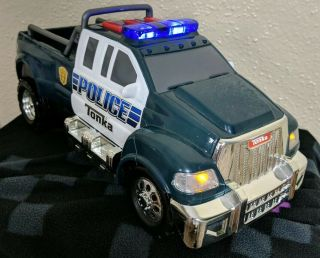 Tonka Police Car Truck 2011 Model 06835 Blue White Sounds And Lights Toy Cop