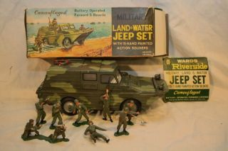 Wards Riverside Camoufloged Military Jeep Battery Operated Soldiers Box