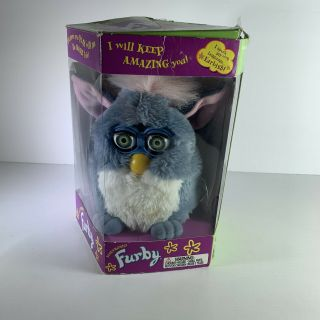 1998 Tiger Electronics Furby Blue & White Not