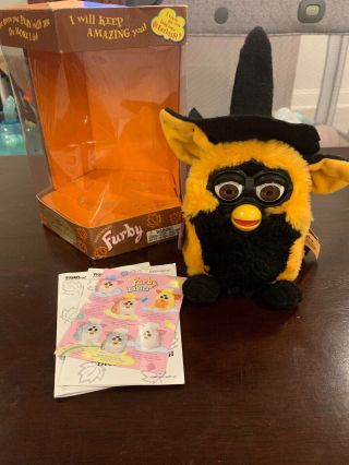 Vintage 1999 Halloween Furby Tiger Limited Edition 70 - 887 Box
