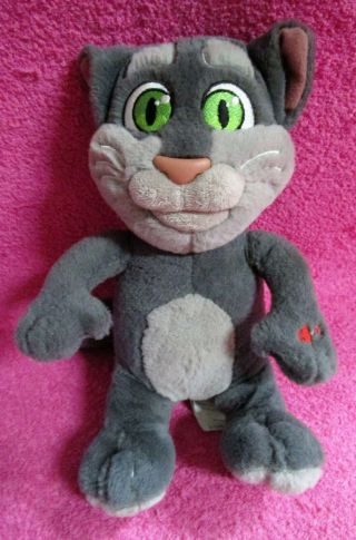 Sound N Light Animatronics Talking Tom Cat Repeats What You Say Talk Back Plush