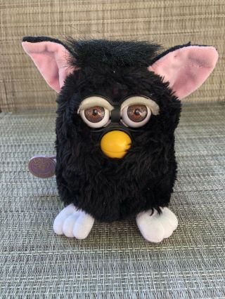 "Furby Witches Cat ""fresh Look"" White Eyelids Tiger Electronics"
