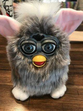 Vtg Furby Gray And White Model 70 - 800 1998 With Tag