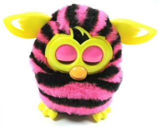 Furby Boom Pink And Black Stripes Great Hasbro 2012 Interactive Toy