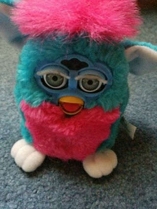 1999 Furby Baby Clown Pink And Teal Vintage 70 - 940