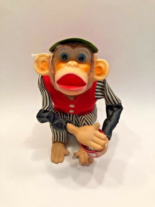 Cragstan Crap Shooting Monkey Vintage Battery Toy Complete Made Japan