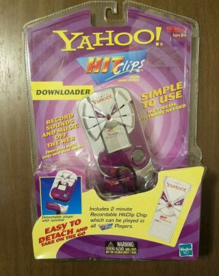 Yahoo Hit Clips Micro Music System 2000 By Tiger Electronics Hasbro,  Read