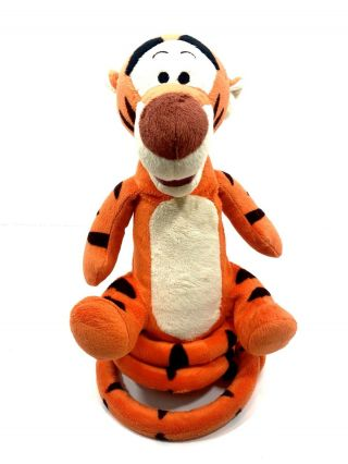 "Disney Tigger Just Play Talking Bouncing Plush Toy 13 "" Spring Tail"
