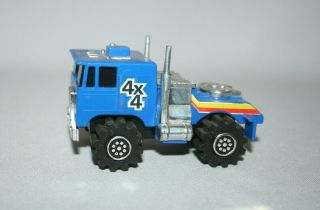 Ljn Rough Riders Semi Blue Cab - Over Motor Runs Light