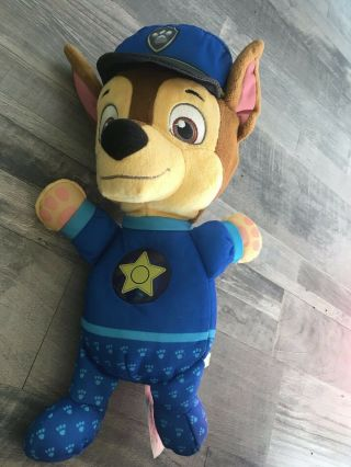 Stuffed Paw Patrol Chase Police Dog Nickelodeon Talking Electronic