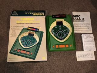 1979 Pulsonic Baseball Ii 2 Mego Electronic Game W Box Instructions Cib