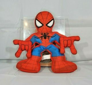 "2011 Electronic Web Talking Spiderman Plush 11"" Doll Playskool Heroes Marvel Toy"