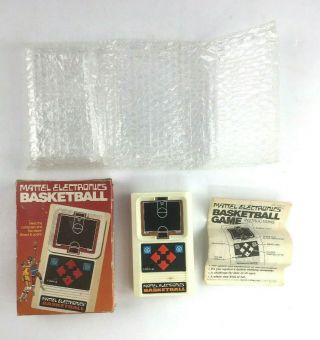 Vintage1978 Mattel Electronics Hand Held Game Basketball Cib Exc
