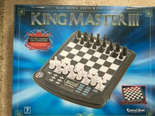Excalibur King Master Iii Electronic Chess & Checkers Model 911e - 3 Complete