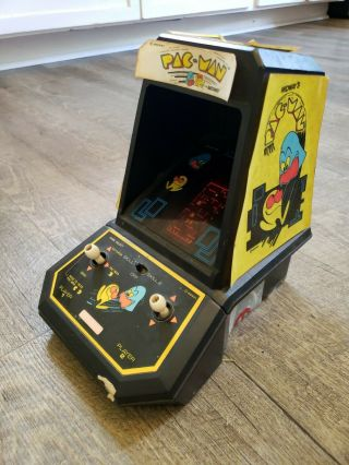 Vintage 1981 Coleco Pac Man Mini Tabletop Arcade (midway) Pac - Man