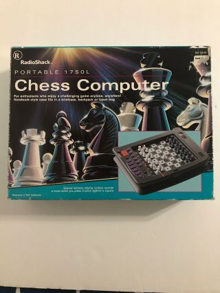 Radio Shack Portable Chess Computer 1750l W/64 Play Levels,  Tandy,  Electronic