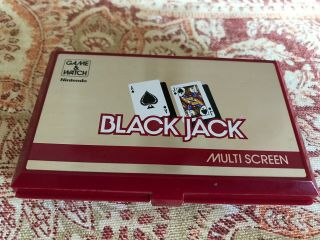 Game & Watch Nintendo Black Jack Multi - Screen Bj - 60 1985