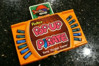 Tomy Pocket Pop Up Pirate Vintage Handheld Tabletop Arcade Game ✨tested Good✨