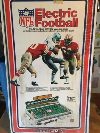 Vintage Nfl Electric Football From Tudor Games Box Cowboys Vs 49ers - No Players