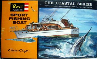 Revell H - 387 - Chris Craft Sport Fishing Boat - 1964 The Coastal Series
