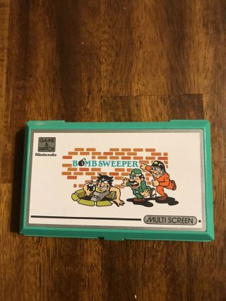 Nintendo Game & Watch Mine Sweeper Handheld Electronic Multi - Screen 1987