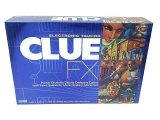 Clue Fx Electronic Talking Family Mystery Board Game Hasbro 2003 100 Complete