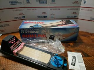 Vintage Radio Shack Tandy Lanes Electronic Bowling Tabletop Game Box